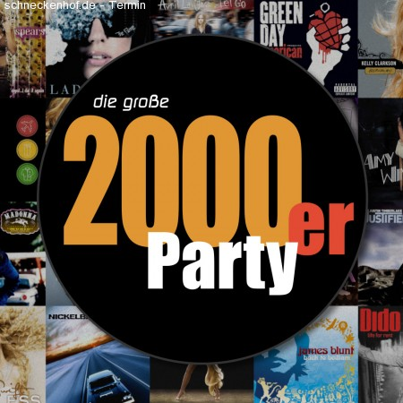 2000er Party Werbeplakat