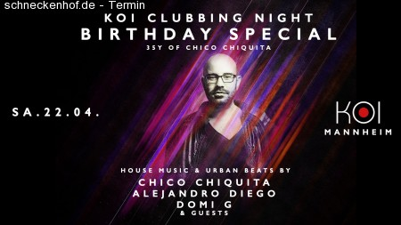 Clubbing Night x Chico's BirthdaySpecial Werbeplakat